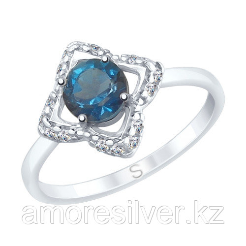 Кольцо SOKOLOV серебро с родием, топаз фианит 92011728