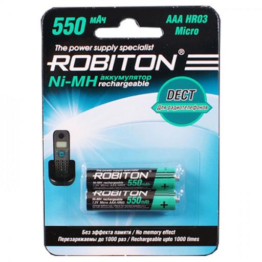 Аккумулятор AAA ROBITON 550MHAAA-2 DECT 550mAh