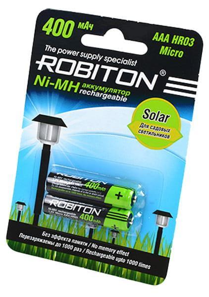 Аккумулятop ROBITON AAA 400mAh solar