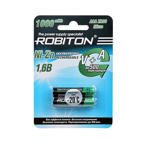 Аккумулятор ROBITON AAA 1000mWh 550mAh Ni-Zn 1.6v