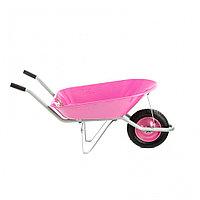 Тачка садовая, грузоподъемность 160 кг, объем 78 л, Pink Line Palisad, фото 1