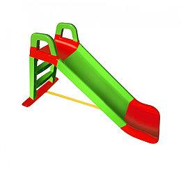 Детская горка Doloni, цвет зелено-красный. 140 см