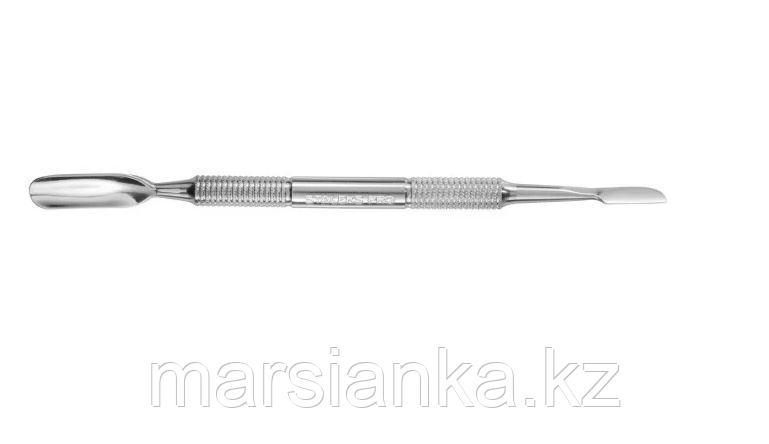 P7-12-03 Лопатка маникюрная Staleks (скругленный пушер+топорик)