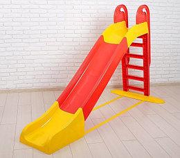 Детская горка большая Doloni, цвет красно-жёлтый. 243 см