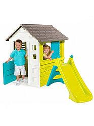 Smoby Детский игровой домик с горкой