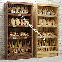 Хлебные деревянные стеллажи витрина стенды для магазина деревянные стеллажи