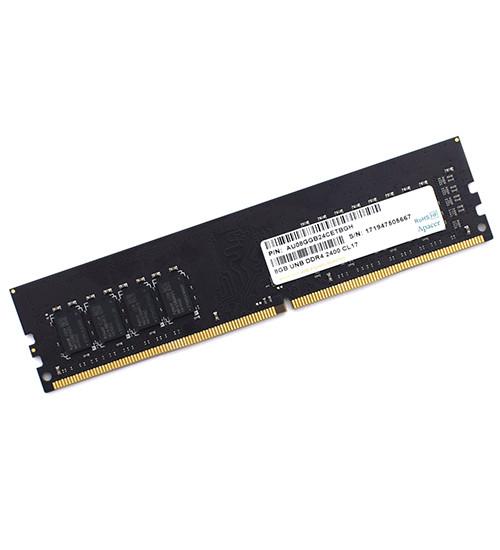 Оперативная память Apacer, AU08GGB24CETBGH, DDR4, 8 GB DIMM <PC4-19200/2400MHz> CL17, oem