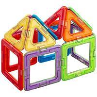 """Магнитой  Конструктор магнитный """"6 квадратов, 8 треугольников"""""""