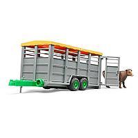 Прицеп Bruder для перевозки животных с коровой, фото 1