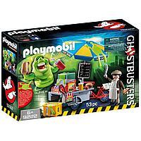 Конструктор Playmobil Охотники за привидениями: Лизун и торговая тележка с хот-догами, фото 1