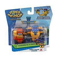 Мини-трансформеры Super Wings 2 в 1 Донни и Скуп (команда Строителей) EU730002C, фото 1