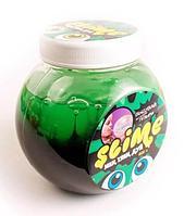 Тянущийся слайм Slime *Mega Mix* черный + зеленый, 500 г, фото 1
