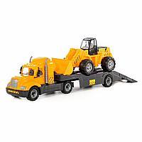 Автомобиль-трейлер+трактор-погрузчик (в сеточке)