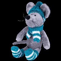 SOFTOY Мягкая игрушка Мышь в шапке, 36см, фото 1