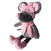 SOFTOY   Мягкая игрушка Мышь в шапке, 36см