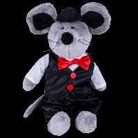 SOFTOY  Мягкая игрушка Мышь в костюме, 36см, фото 1