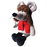 SOFTOY Мягкая игрушка Мышь в ушанке, 26см