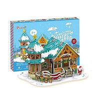 Cubic Fun  Кубик фан Рождественский домик 3 (с подсветкой)