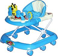 BAMBOLA Ходунки ПЧЕЛКА (8 колес СИЛИКОН, игрушки,муз) 5 шт в кор (67*60*52) BLUE голубой