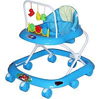 BAMBOLA Ходунки СЧИТАЛКА (8 колес,игрушки,муз) 6 шт в кор (62*53*60) BLUE голубой