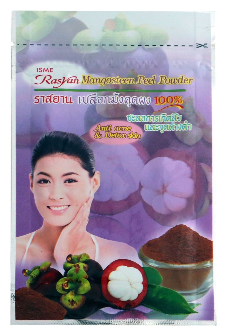 Натуральная порошковая маска скраб для лица Rasyan Mangosteen Peel Powder 20 г
