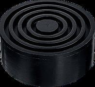 Опора резиновая для домкрата РШ-35, D105 / H35 мм, ЗУБР Профессионал
