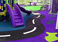 Детская площадка, резиновое покрытие