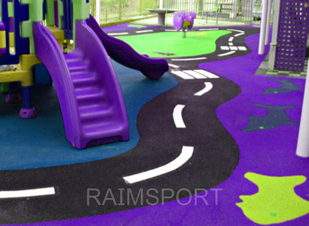 Детская площадка, резиновое покрытие - фото 1