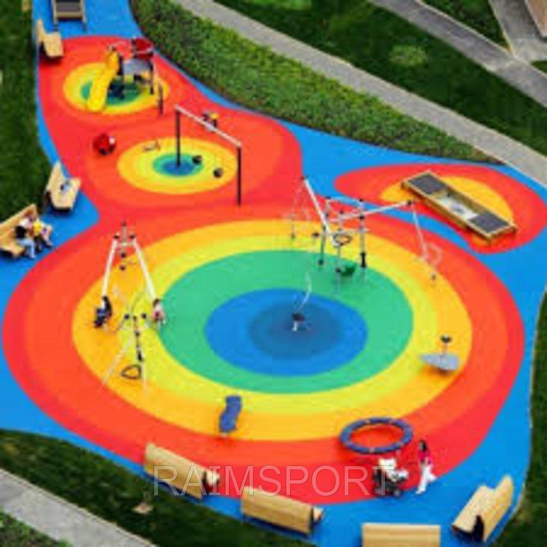 Детская площадка, резиновое покрытие - фото 2