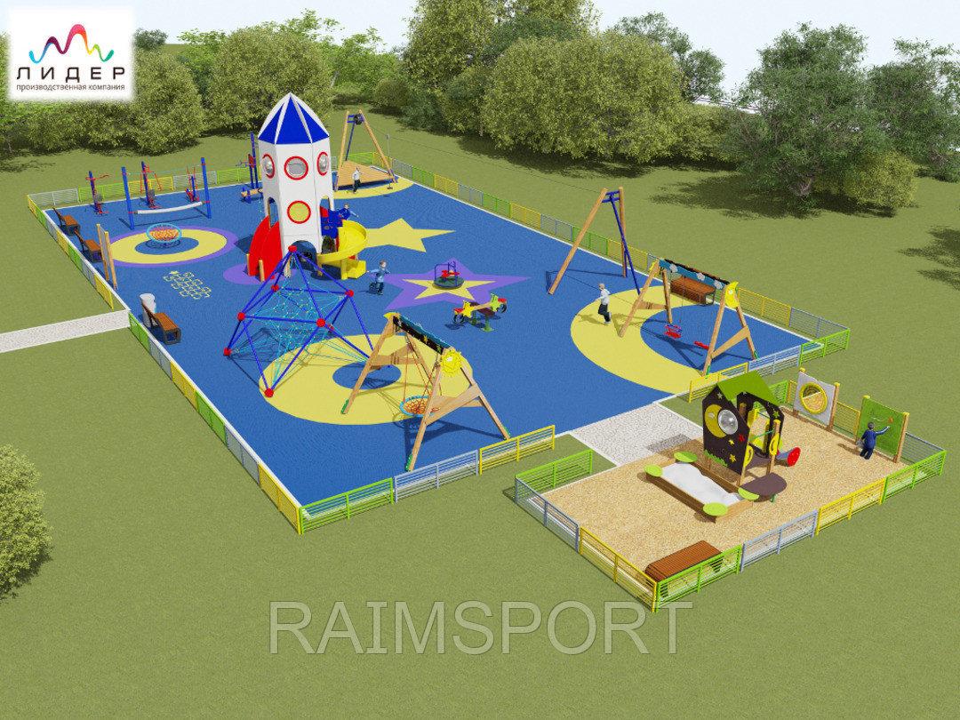 Детская площадка, резиновое покрытие - фото 3