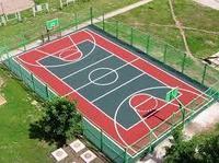 Спортивная площадка, резиновое покрытие