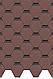 Черепица Standart Сота (Красный, коричневый, зеленый, серый), фото 5