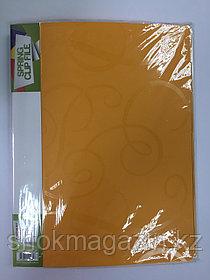 Скоросшиватель пластиковый оранжевый с пружинным металлическим механизмом