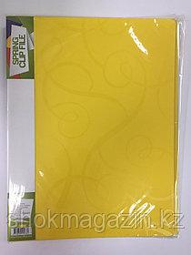 Скоросшиватель пластиковый лимон с пружинным металлическим механизмом