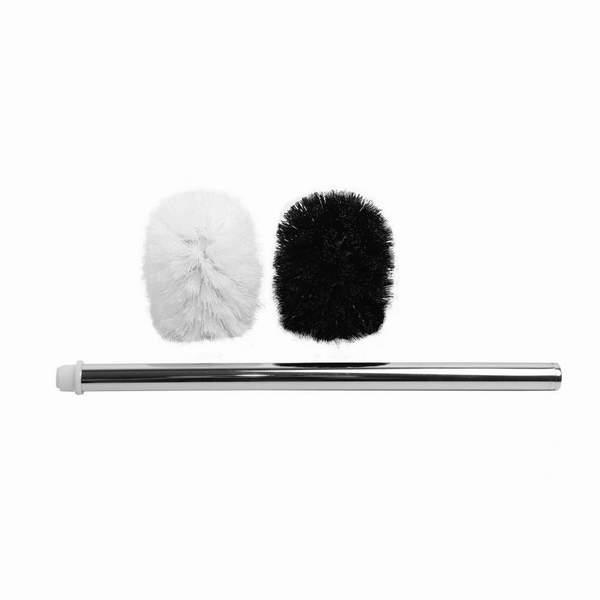 Аквалиния набор щеток д/унитаза (черная, белая) 2 шт + ручка