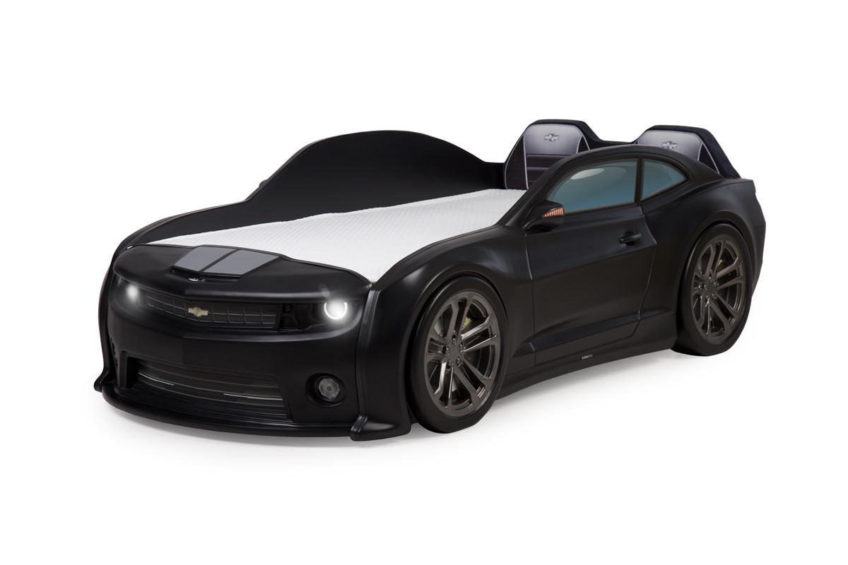 """Кровать-машинка объемная (3d) EVO """"Camaro"""" черный матовый"""