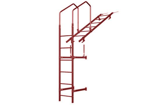 Стеновая лестница.