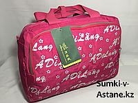 Женская спортивная сумка для фитнеса. Высота 25 см, ширина 38 см, глубина 16 см.