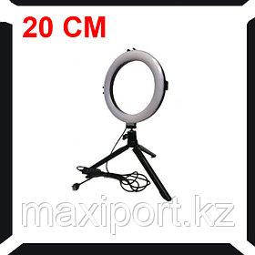 Кольцевой свет настольный 20см диаметр