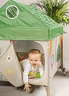 Детский манеж Happy Baby Alex Home со светильником зеленый, фото 1