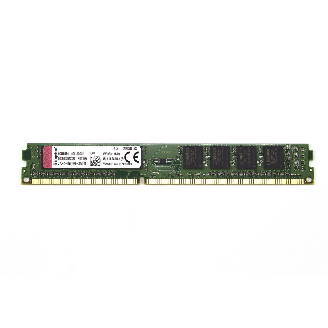 Kingston KVR16N11S8/4 Модуль памяти DDR3 4 GB 1600MHz CL11
