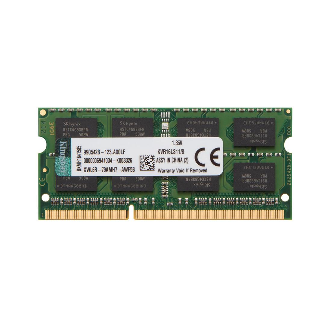 Kingston KVR16LS11/8 Модуль оперативной памяти для ноутбука DDR3L SODIMM 8 GB 1600MHz@1.35V CL11