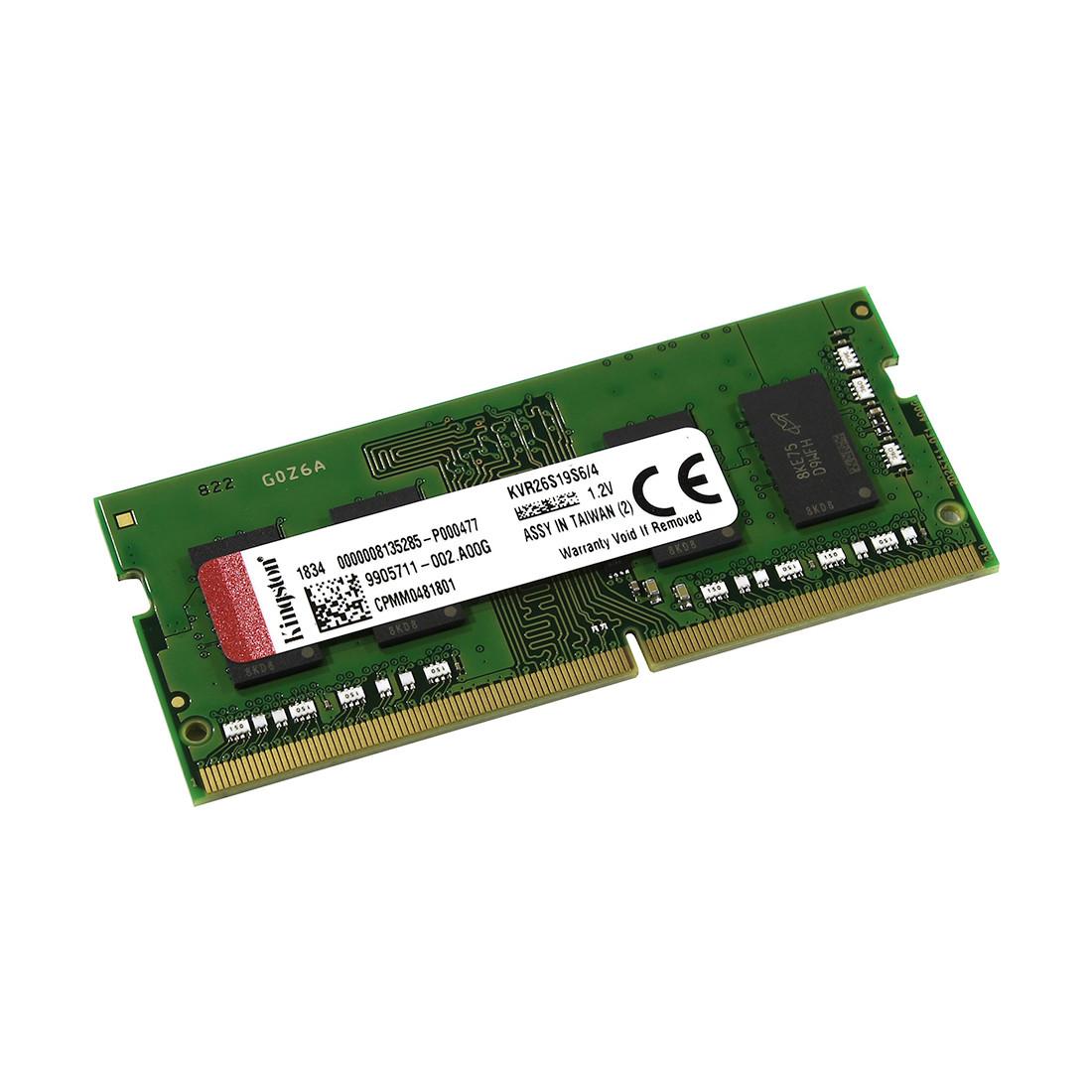 Kingston KVR26S19S6/4 Модуль памяти для ноутбука DDR4, 4 GB, SO-DIMM