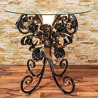 Стеклянный журнальный столик с подсветкой С107/1 BZ