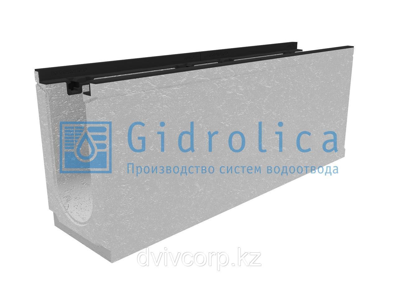 Лоток водоотводный бетонный коробчатый (СО-150мм), с чугунной насадкой КU 100.24,8 (15).39(32,5) - BGZ-S, №