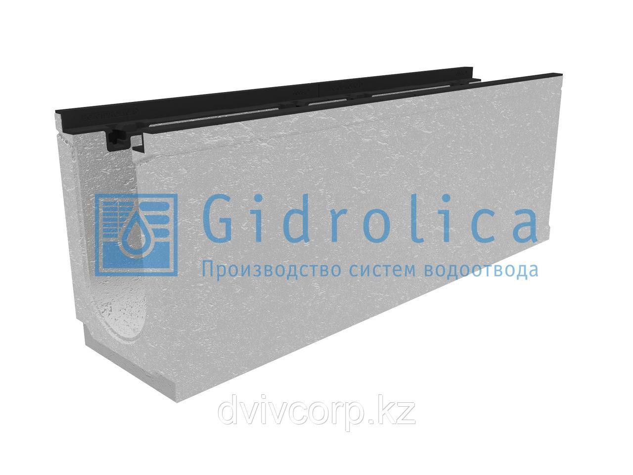 Лоток водоотводный бетонный коробчатый (СО-150мм), с чугунной насадкой КU 100.24,8 (15).36,5(30) - BGZ-S, №