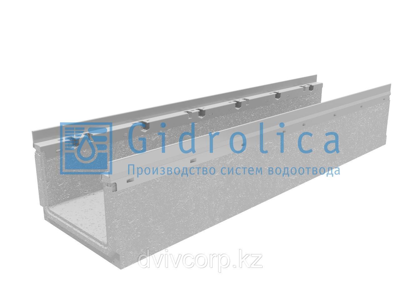 Лоток водоотводный бетонный коробчатый (СО-200мм), с оцинкованной насадкой, КП 100.26,3 (20).19(15,5) - BGF-Z