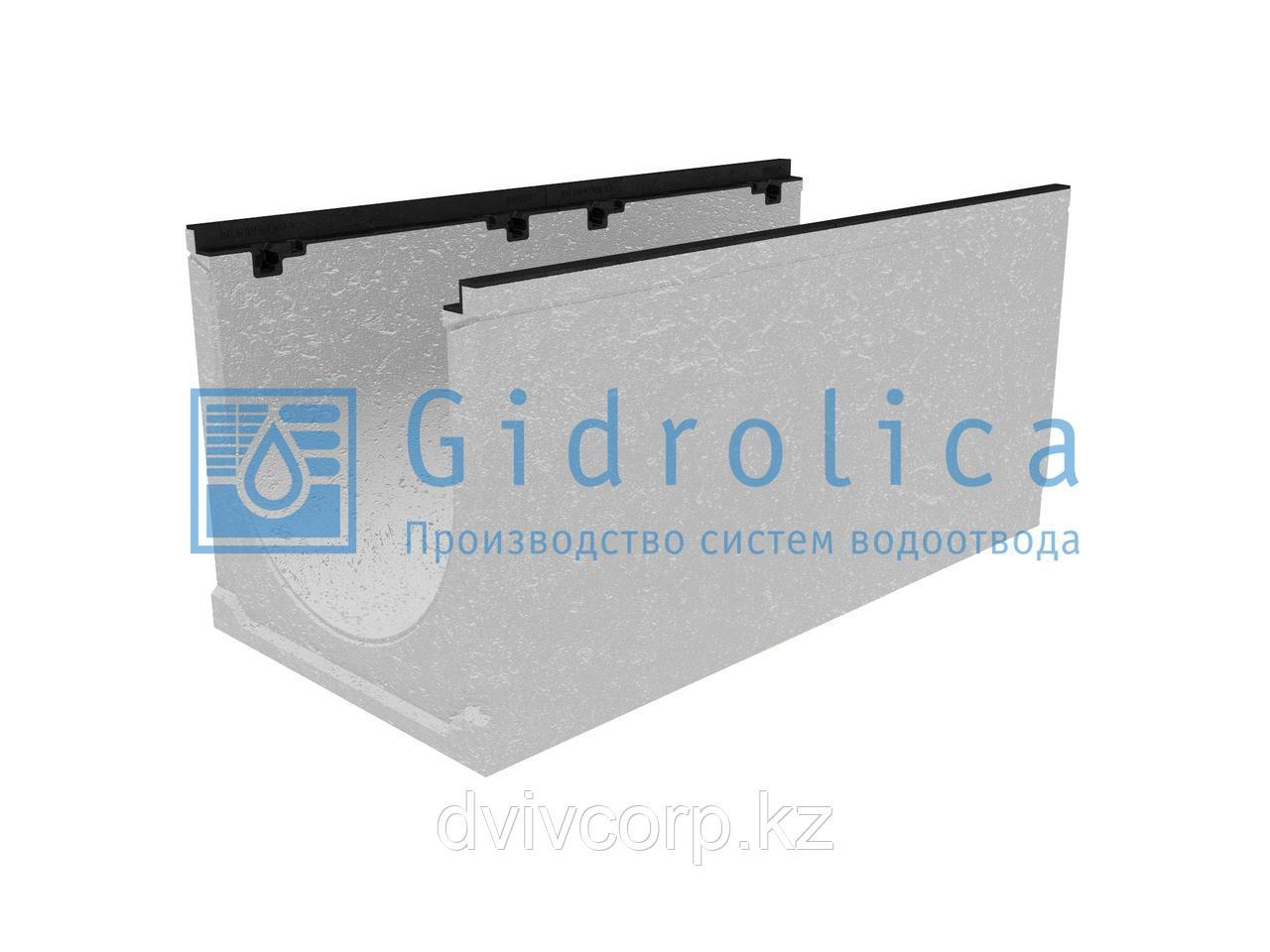 Лоток водоотводный бетонный коробчатый (СО-400мм), с чугунной насадкойКU 100.49,9 (40).47(40) - BGZ-S, № 15-0