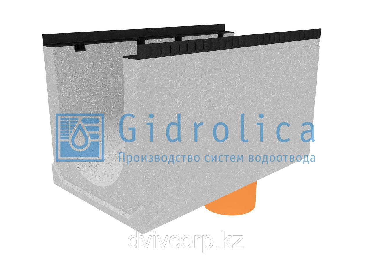 Лоток водоотводный бетонный коробчатый (СО-400мм), с водосливом КUв 100.54(40).57,5(49,5) - BGМ, № 25-0