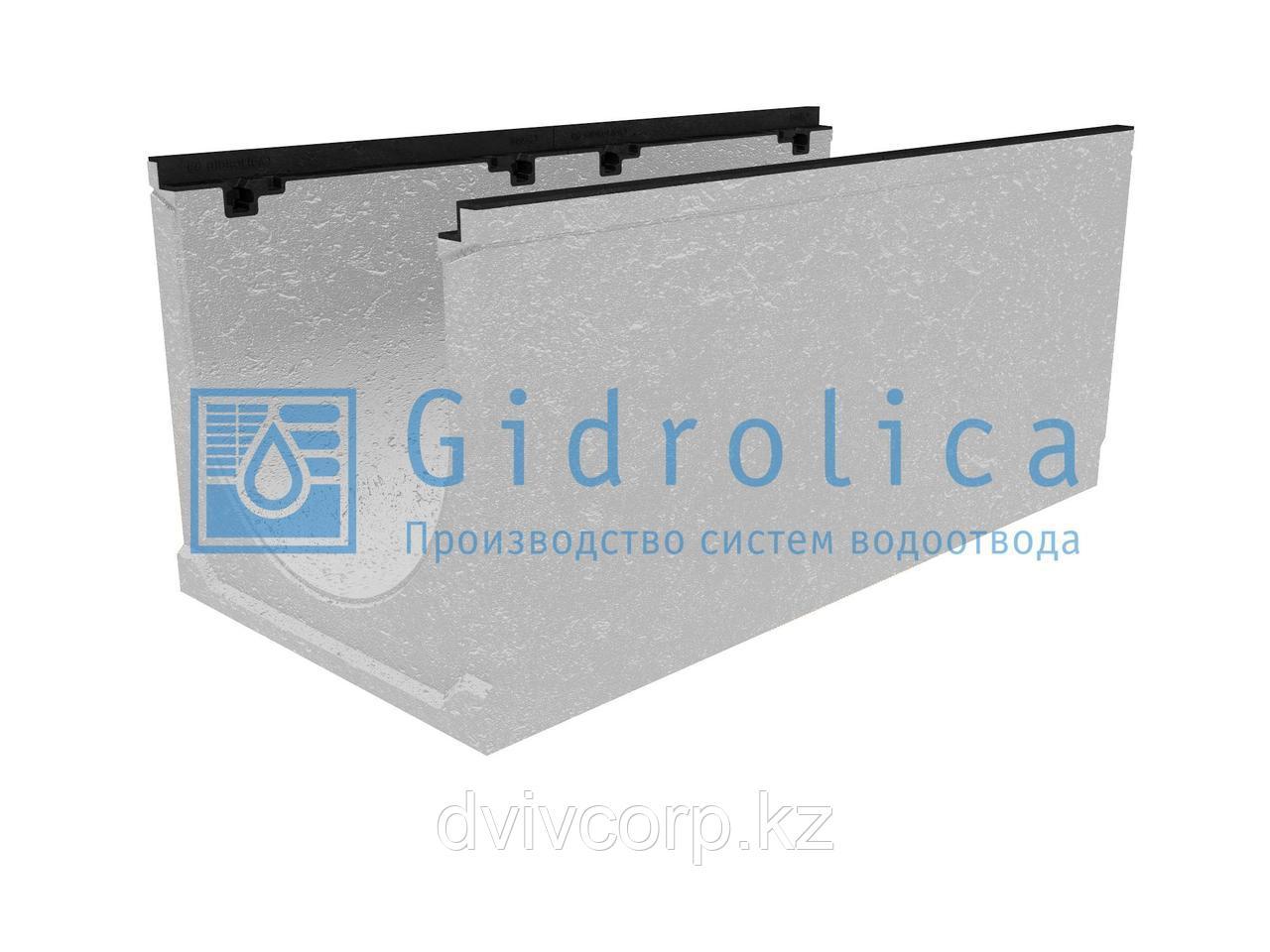 Лоток водоотводный бетонный коробчатый (СО-400мм), с чугунной насадкой КU 100.49,9 (40).44,5(37,5) - BGZ-S, №